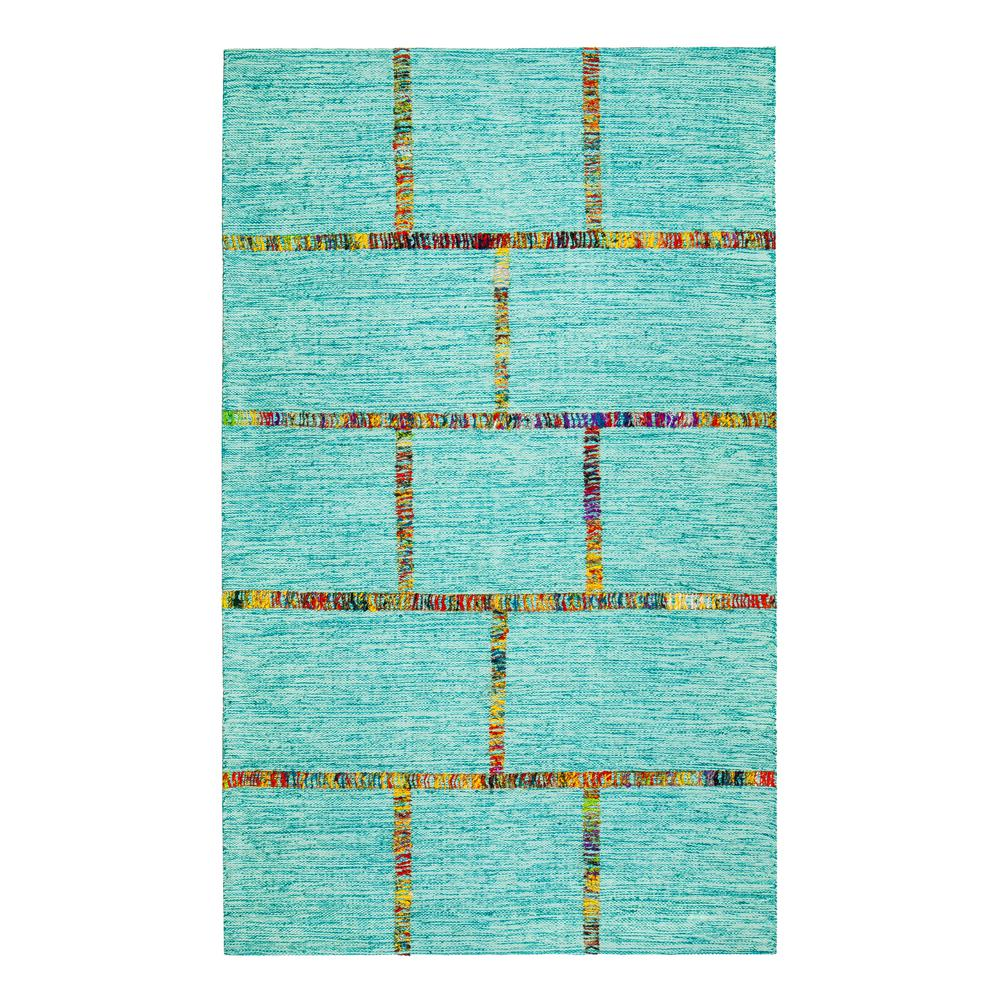 Aditi Flat Weave Blue 8 ft. x 10 ft. Area Rug