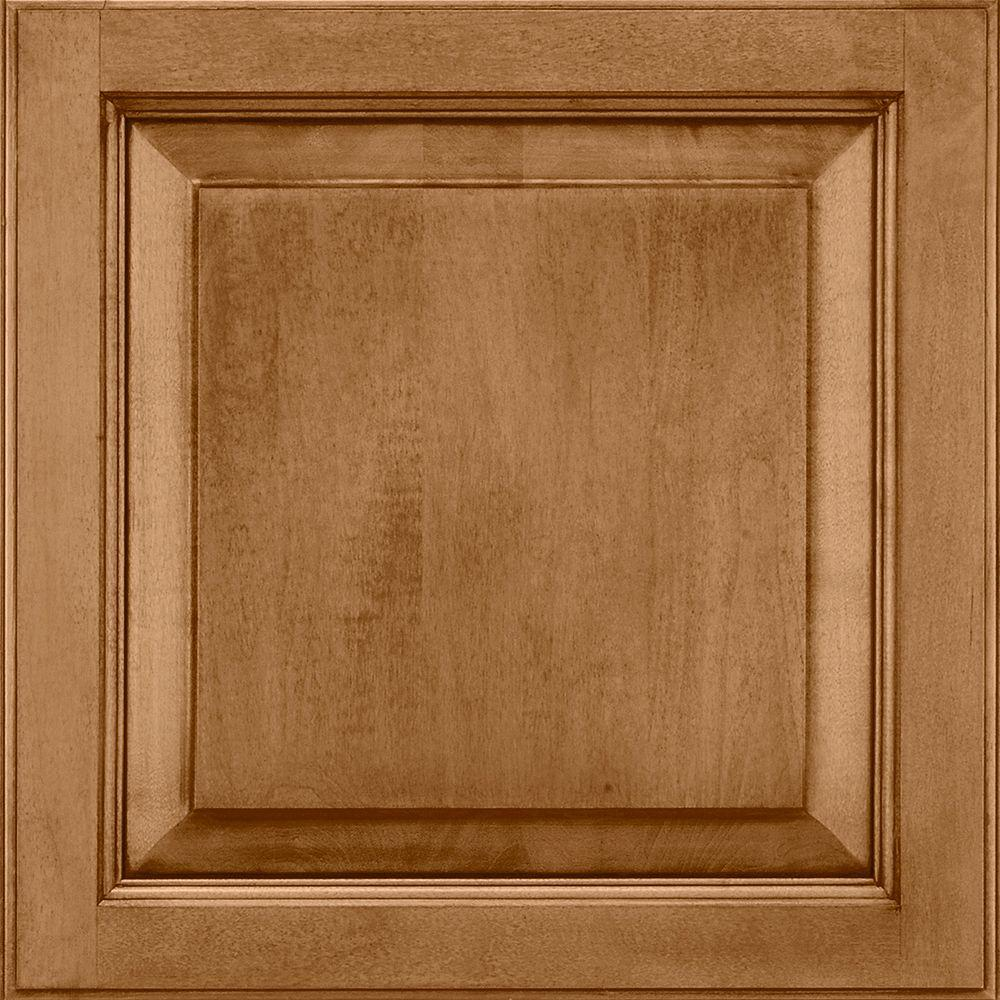 American Woodmark 14-9/16x14-1/2 in. Cabinet Door Sample in Alexandria Maple Mocha Glaze