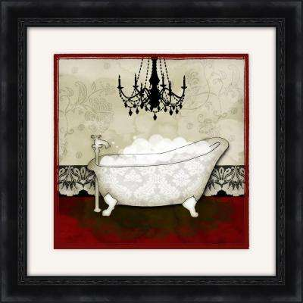 "19-1/2 in. x 19-1/2 in. ""Red Bath B"" Framed Wall Art"