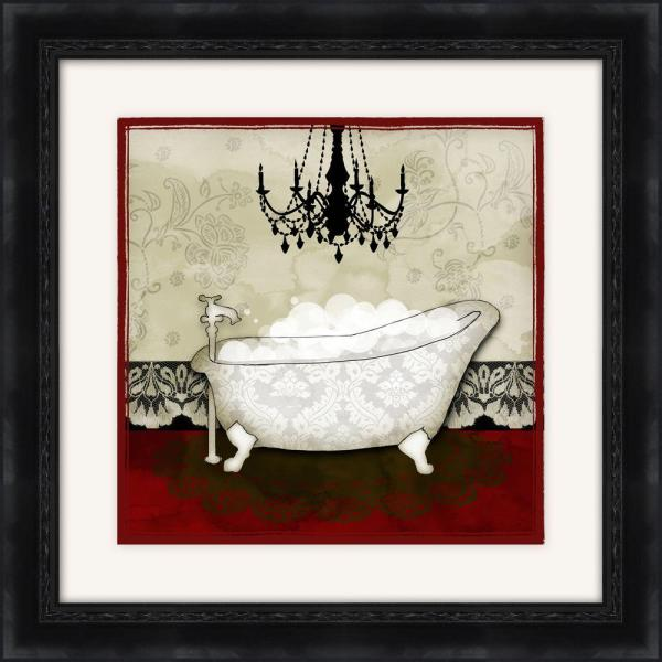 Ptm Images 19 1 2 In X 19 1 2 In Red Bath B Framed Wall Art 1 17008b The Home Depot
