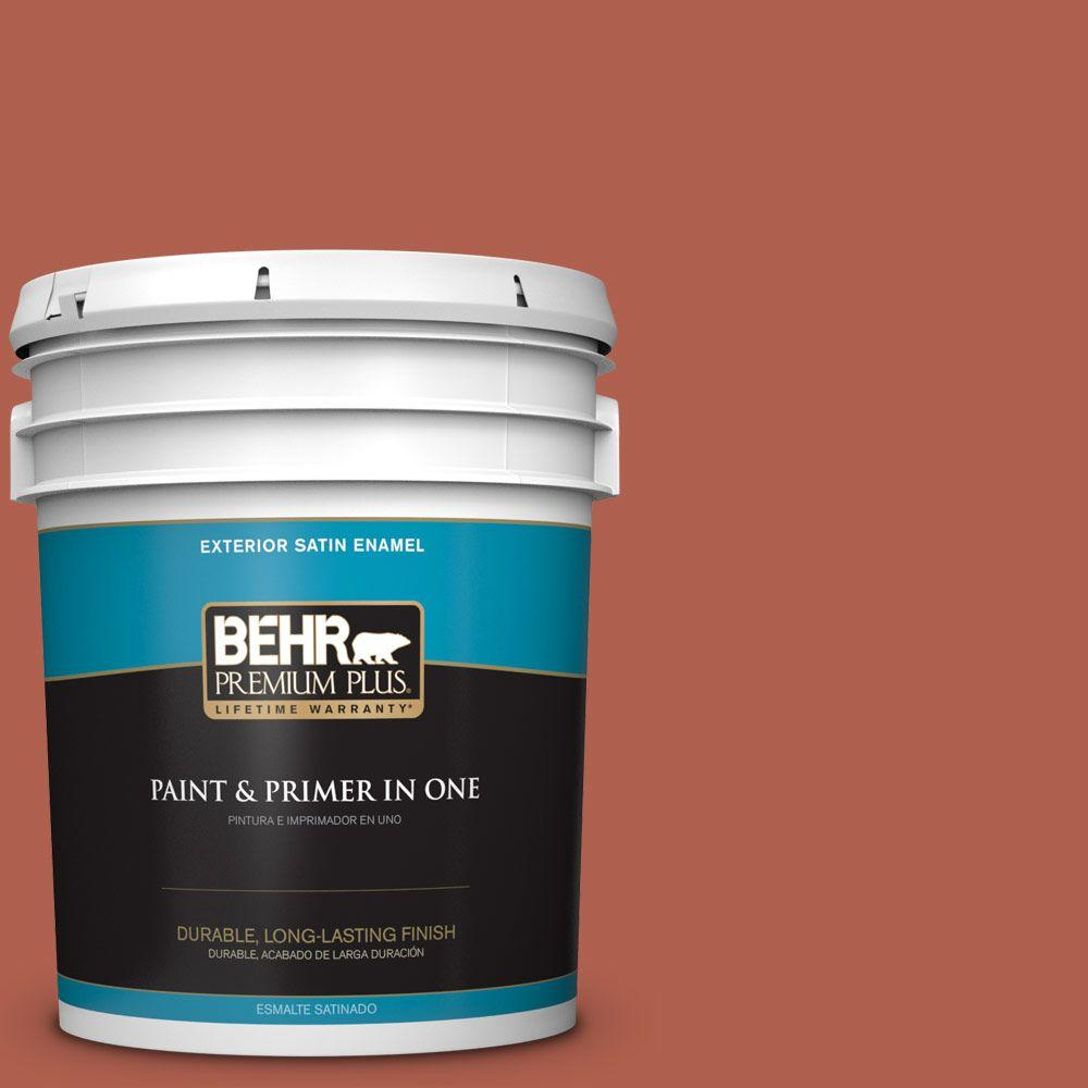 5-gal. #BIC-46 Clay Red Satin Enamel Exterior Paint