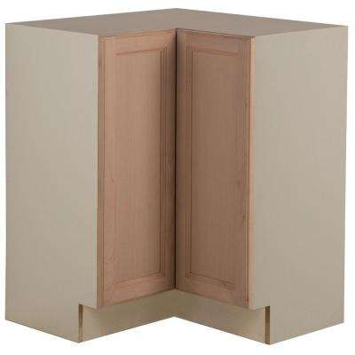 Assembled 27.7 in. x 34.5 in. x 27.7 in. Easthaven Lazy Susan Corner Base Cabinet in Unfinished German Beech