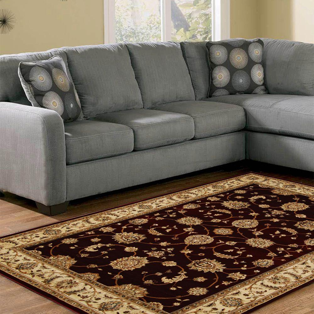 Home Dynamix Dynasty Burgundy 2 ft. 6 in. x 11 ft. 1 in. Area Rug