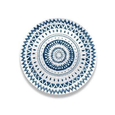 Indochine Ikat Melamine Round Hammered Platter (Set of 1)