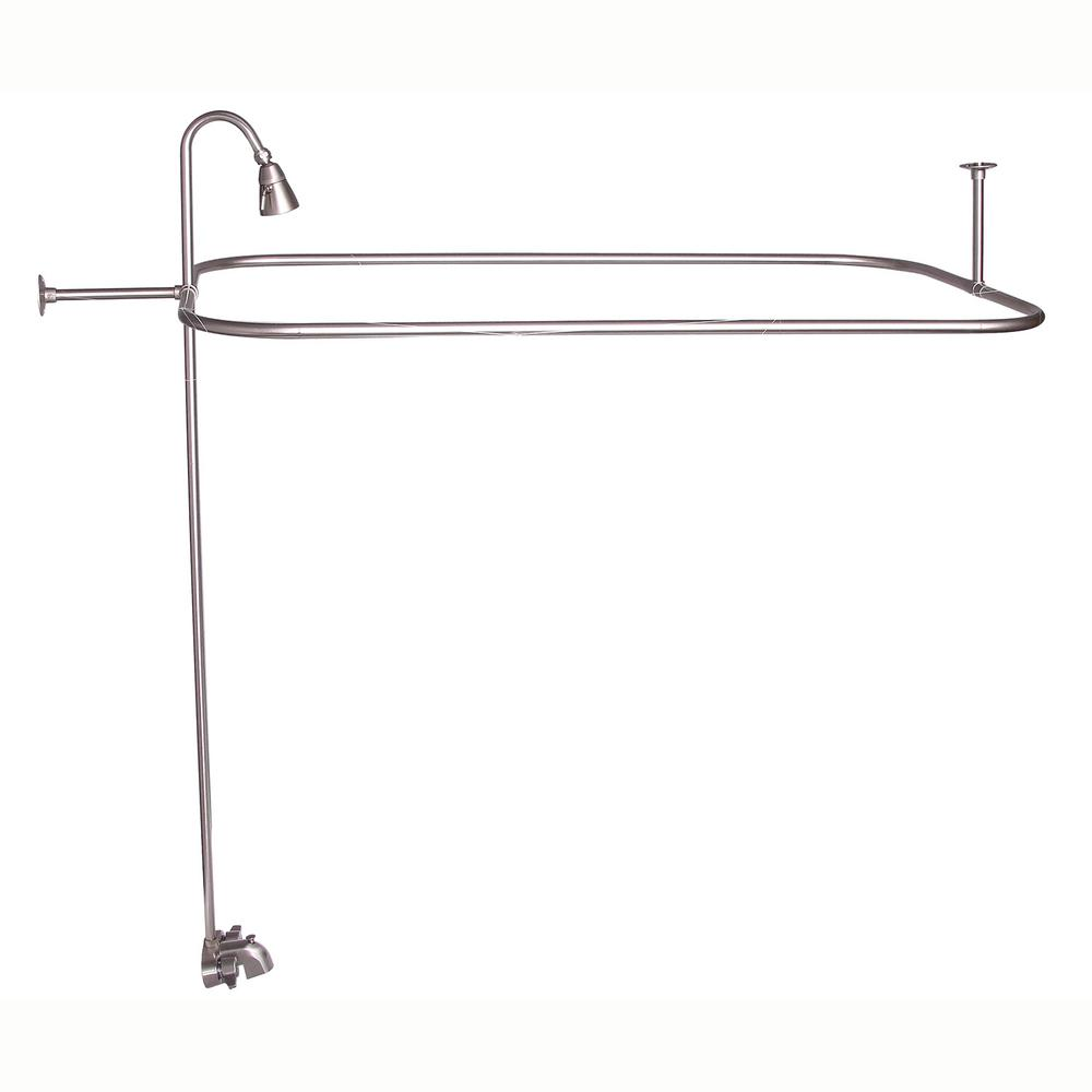 Barclay Products 2-Handle Claw Foot Tub Faucet with Diverter Riser ...