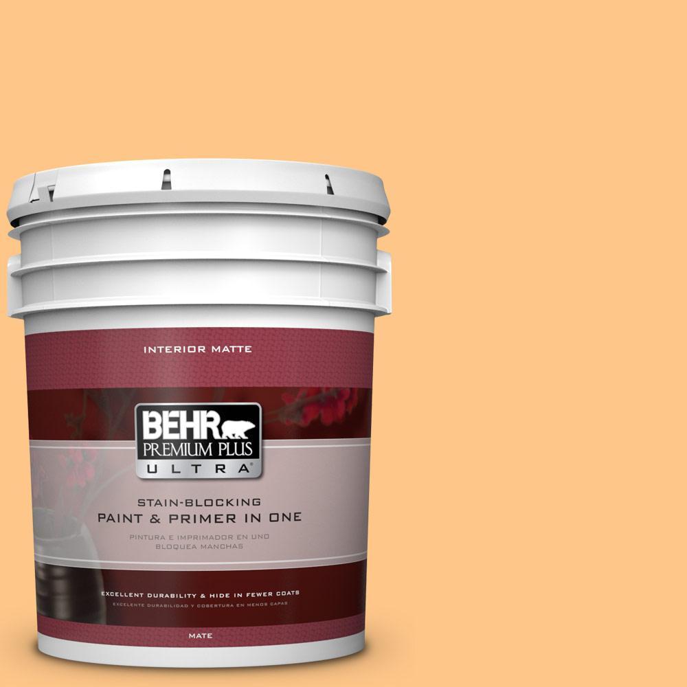 BEHR Premium Plus Ultra 5 gal. #P240-4 Mango Tango Matte Interior Paint