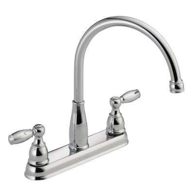 Foundations 2 Handle Standard Kitchen Faucet In Chrome