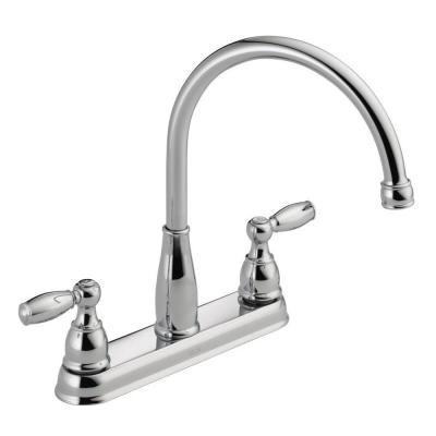 Foundations 2-Handle Standard Kitchen Faucet in Chrome