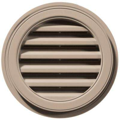18 in. Round Gable Vent in Wicker