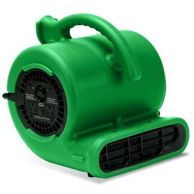 1/4 HP Air Mover Blower Fan for Water Damage Restoration Carpet Dryer Floor Home and Plumbing Use in Green