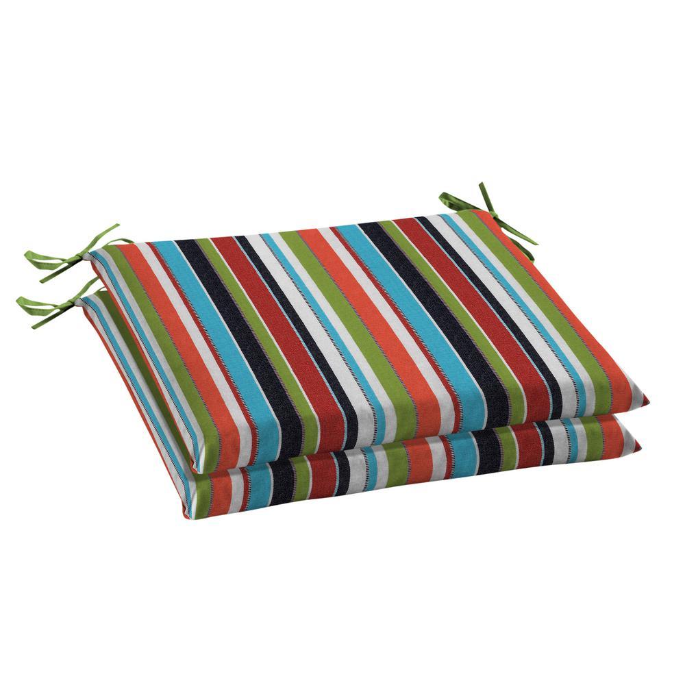 Oak Cliff 20 x 18 Sunbrella Carousel Confetti Outdoor Chair Cushion (2-Pack)