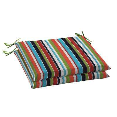 Sunbrella Carousel Confetti Rectangular Outdoor Seat Cushion (2 Pack)