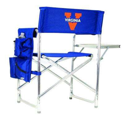 University of Virginia Navy Sports Chair with Embroidered Logo