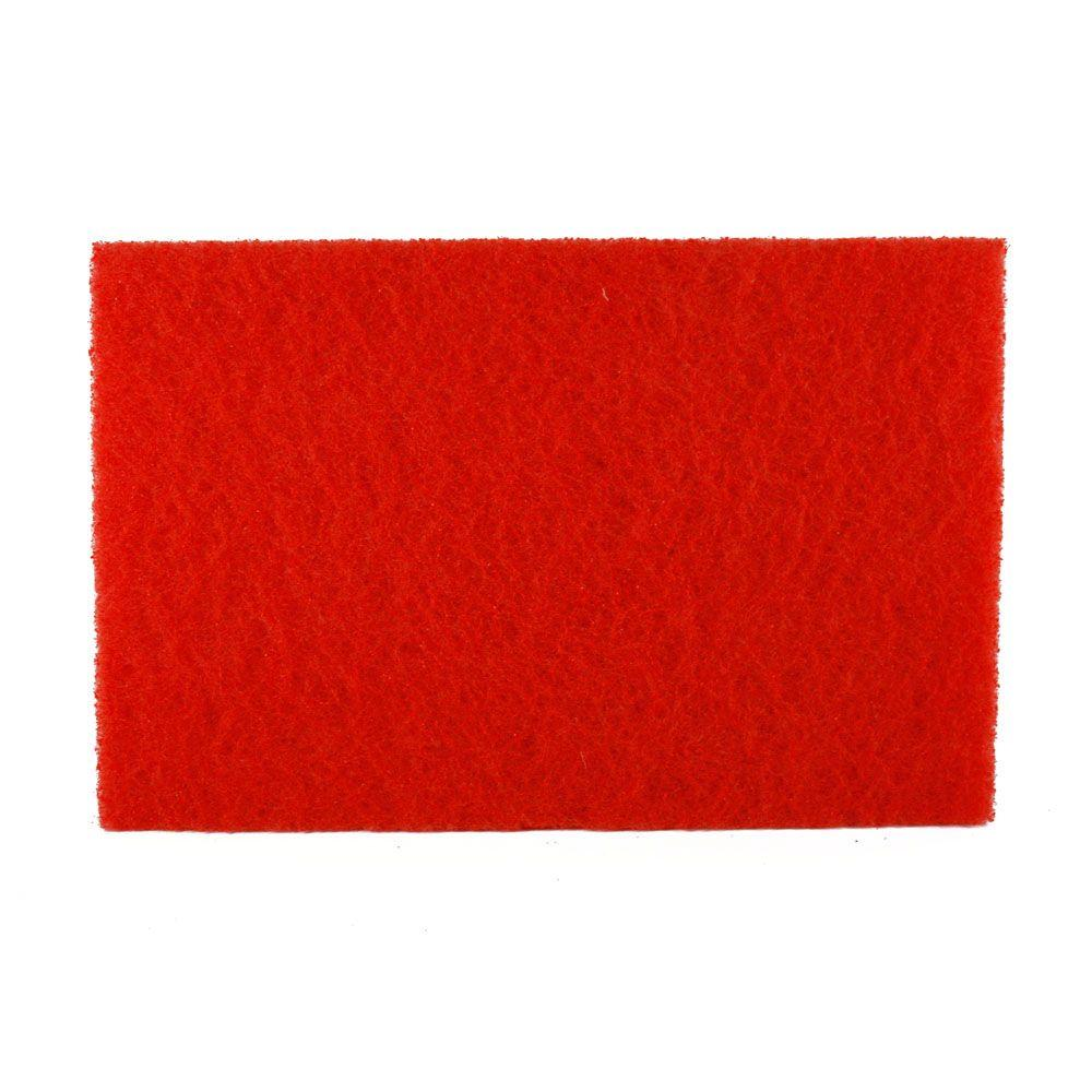 12 in. x 18 in. Non-Woven Red Buffer Pad