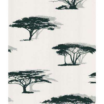 Black Serengeti Tree Wallpaper Sample