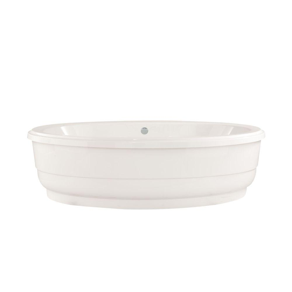 Santa Fe 6 ft. Center Drain Soaking Tub in White