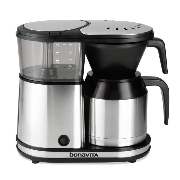 Bonavita 5-Cup Stainless Steel Drip Coffee Maker with Automatic Shut-Off