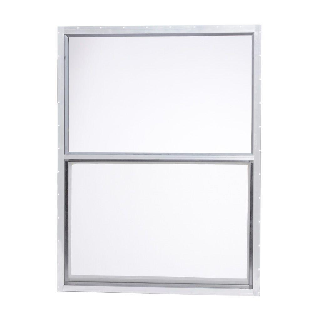 Mobile Home Single Hung Aluminum Window   White