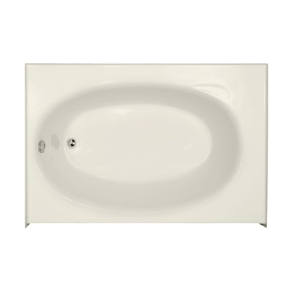 Kona 5 ft. Left Drain Alcove Rectangular Bathtub in Biscuit