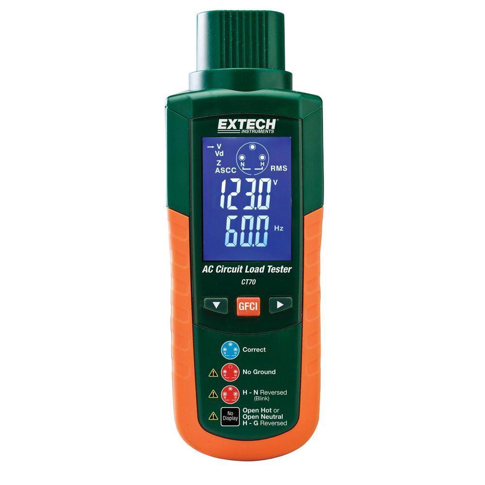 Extech Instruments Ac Circuit Analyzer Ct70 The Home Depot