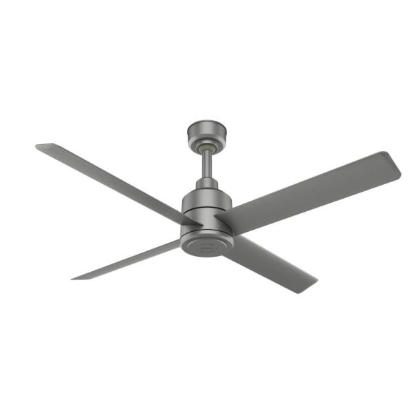 Trak 72 in. Indoor/Outdoor Matte Silver Commercial Ceiling Fan with Wall Control