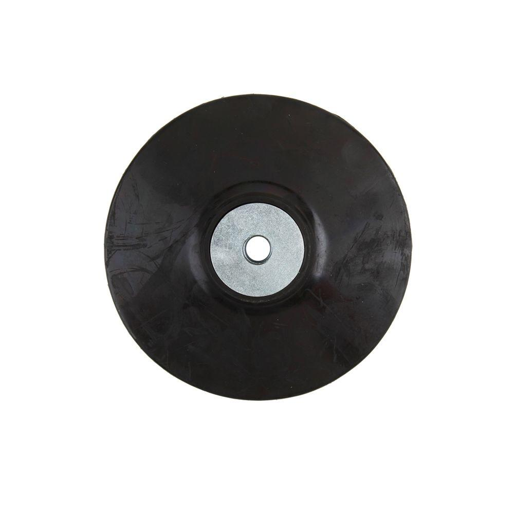 5 in. Rubber Backing Pad with 5/8 in. x 11 in.