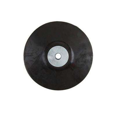 5 in. Rubber Backing Pad with 5/8 in. x 11 in. Nut