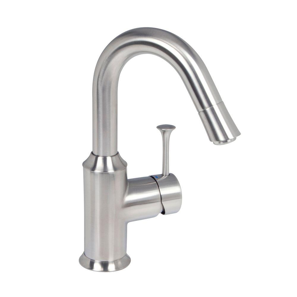American Standard Pekoe Single-Handle Bar Faucet in Stainless Steel ...