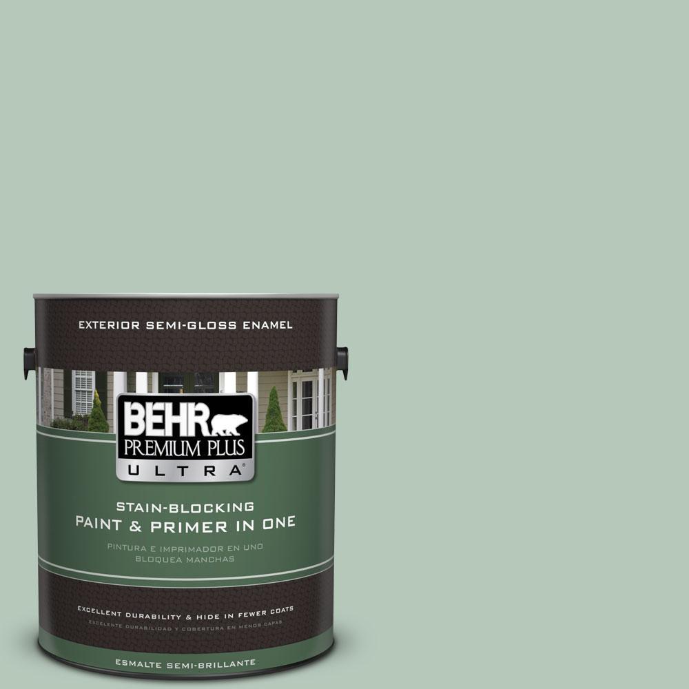 BEHR Premium Plus Ultra 1-gal. #S410-3 Pond's Edge Semi-Gloss Enamel Exterior Paint