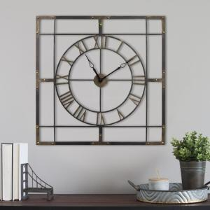 Stratton Home Decor Large Wall Clock S11549 The