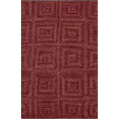 Candice Olson Raspberry 5 ft. x 8 ft. Area Rug