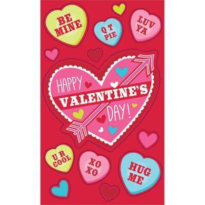 4 in. Valentine's Day Cards with Stickers (24-Count, 9-Pack)