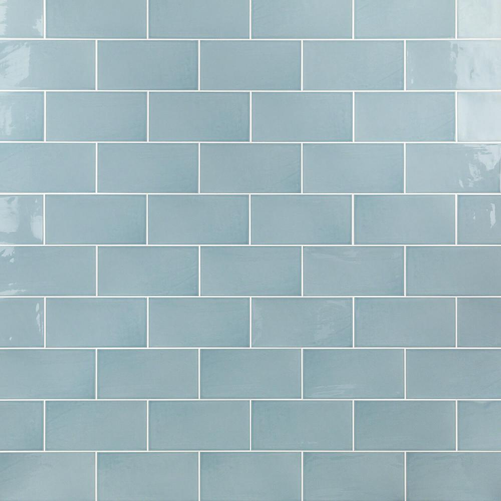 Light Blue Wall Tiles: Ivy Hill Tile Barbados Light Blue 5 In. X 10 In. 9mm