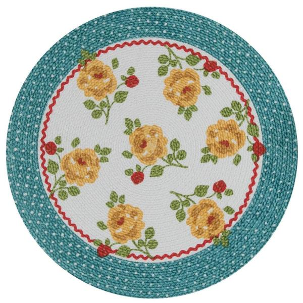 Country Fresh 14.5 in x 14.5 in Cotton Multi Braided Placemat (Set of 4)