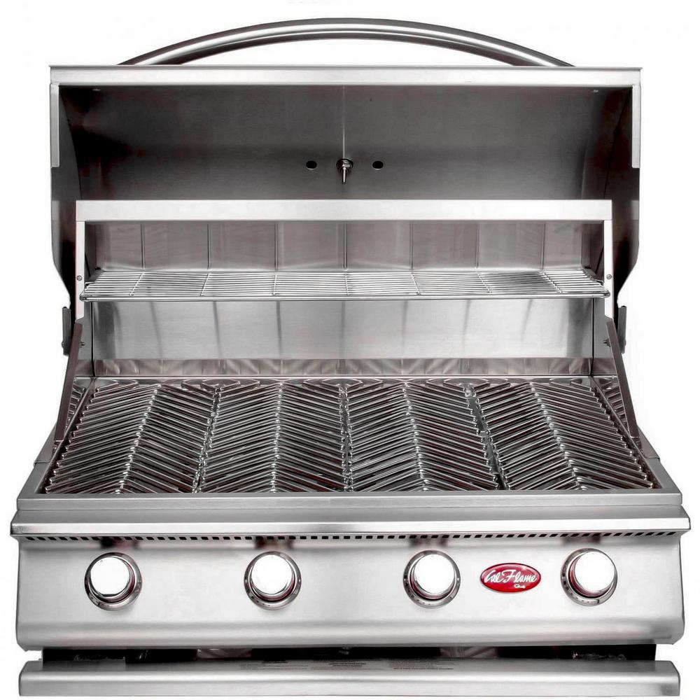 Cal Flame Gourmet Series 4-Burner Built-In Stainless Steel Propane Gas Grill