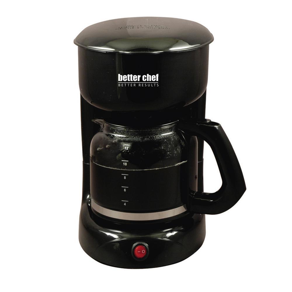 12-Cup Black Coffeemaker