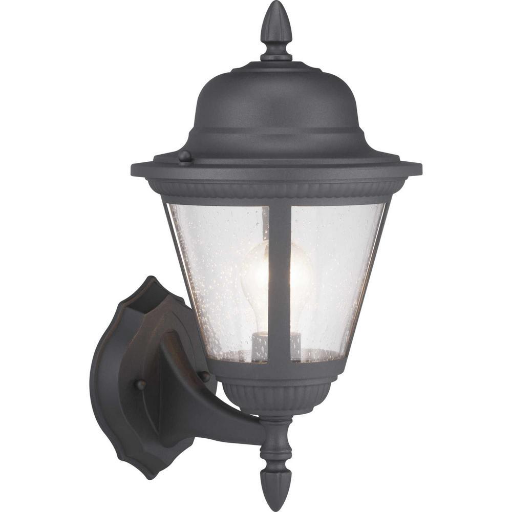 Progress Lighting Westport Collection 1 Light Black Wall Lantern Sconce