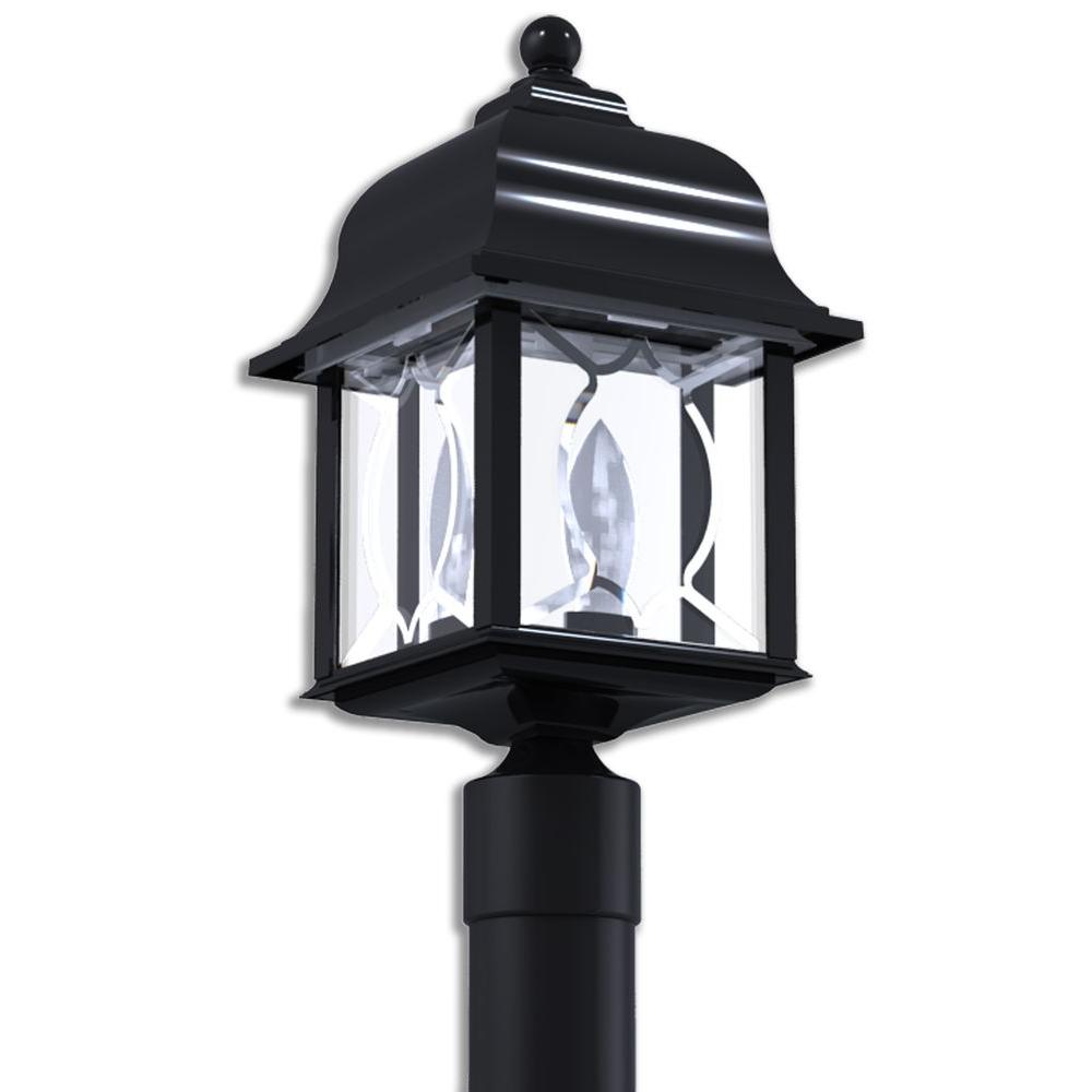 Newport Coastal Spyglass Black Outdoor Post-Top Light