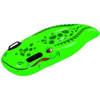 39 in. Green and Red Children's Inflatable Crocodile Kick Board