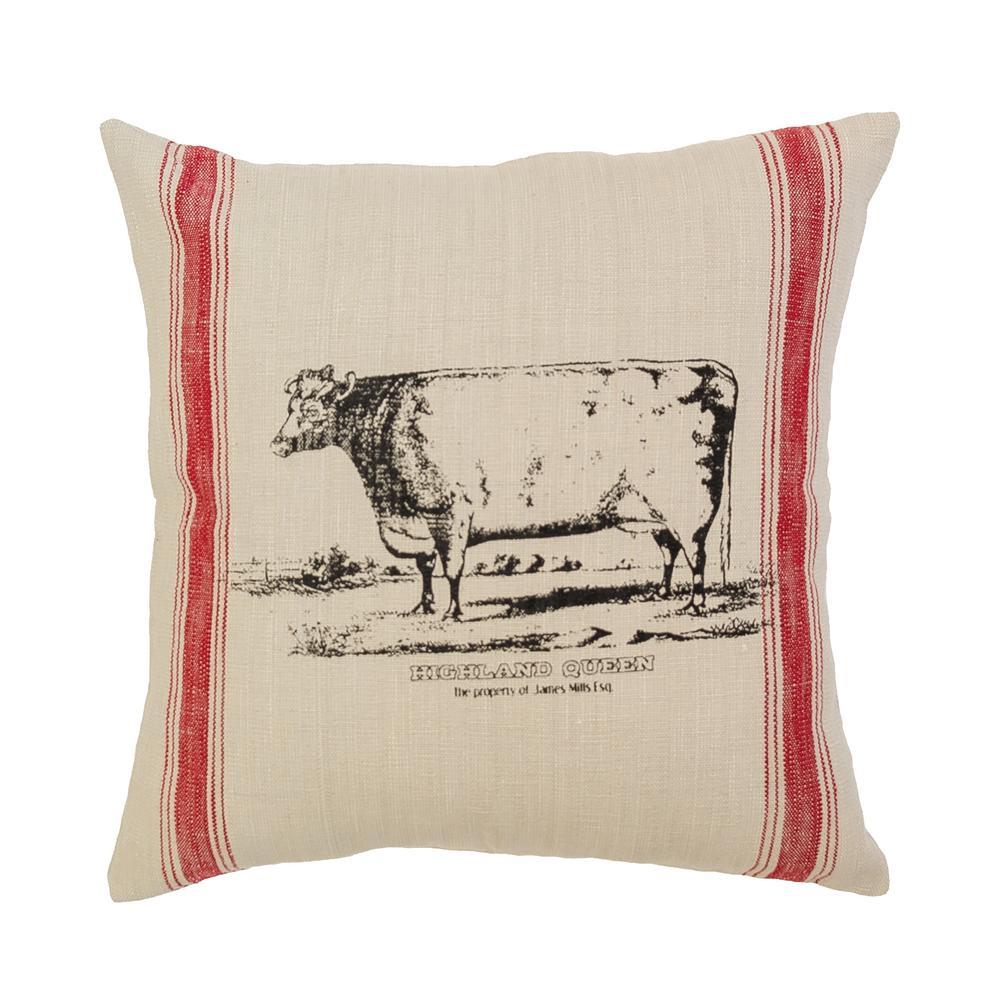 Cow Feed Sack Down Alternative Standard Throw Pillow