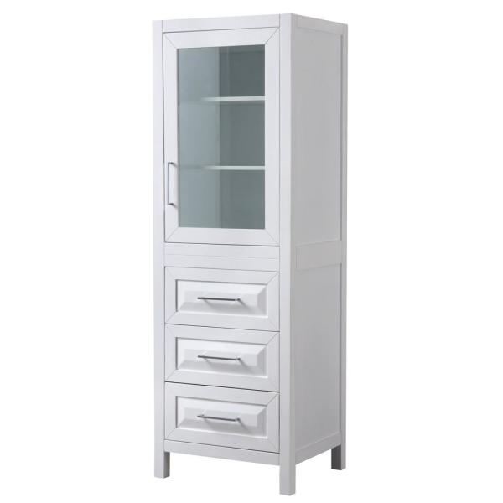 Daria 24 in. W x 71-1/4 in. H x 20 in. D Bathroom Linen Storage Tower Cabinet in White