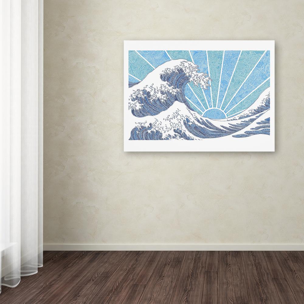 Trademark Fine Art 14 in. x 19 in. ''Off California Blue''