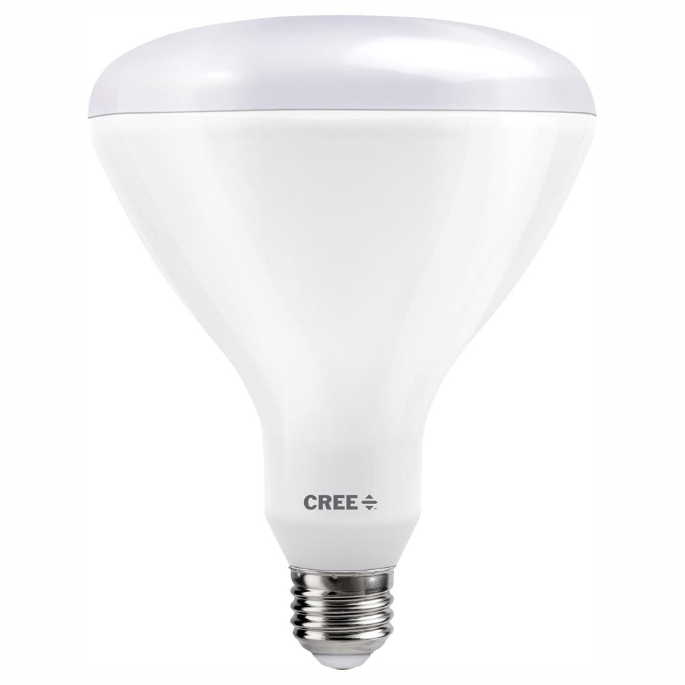 Cree 120W Equivalent Soft White (2700K) BR40 Dimmable Exceptional Light Quality LED Light Bulb