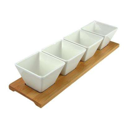 Modern Appetizer and Condiment Server Set