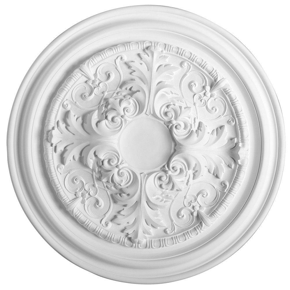 American Pro Decor European Collection 27-3/8 in. x 1-3/8 in. Floral Polyurethane Ceiling Medallion