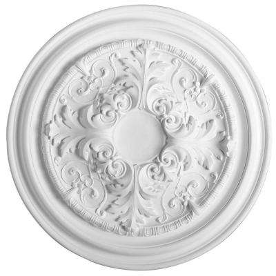 European Collection 27-3/8 in. x 1-3/8 in. Floral Polyurethane Ceiling Medallion