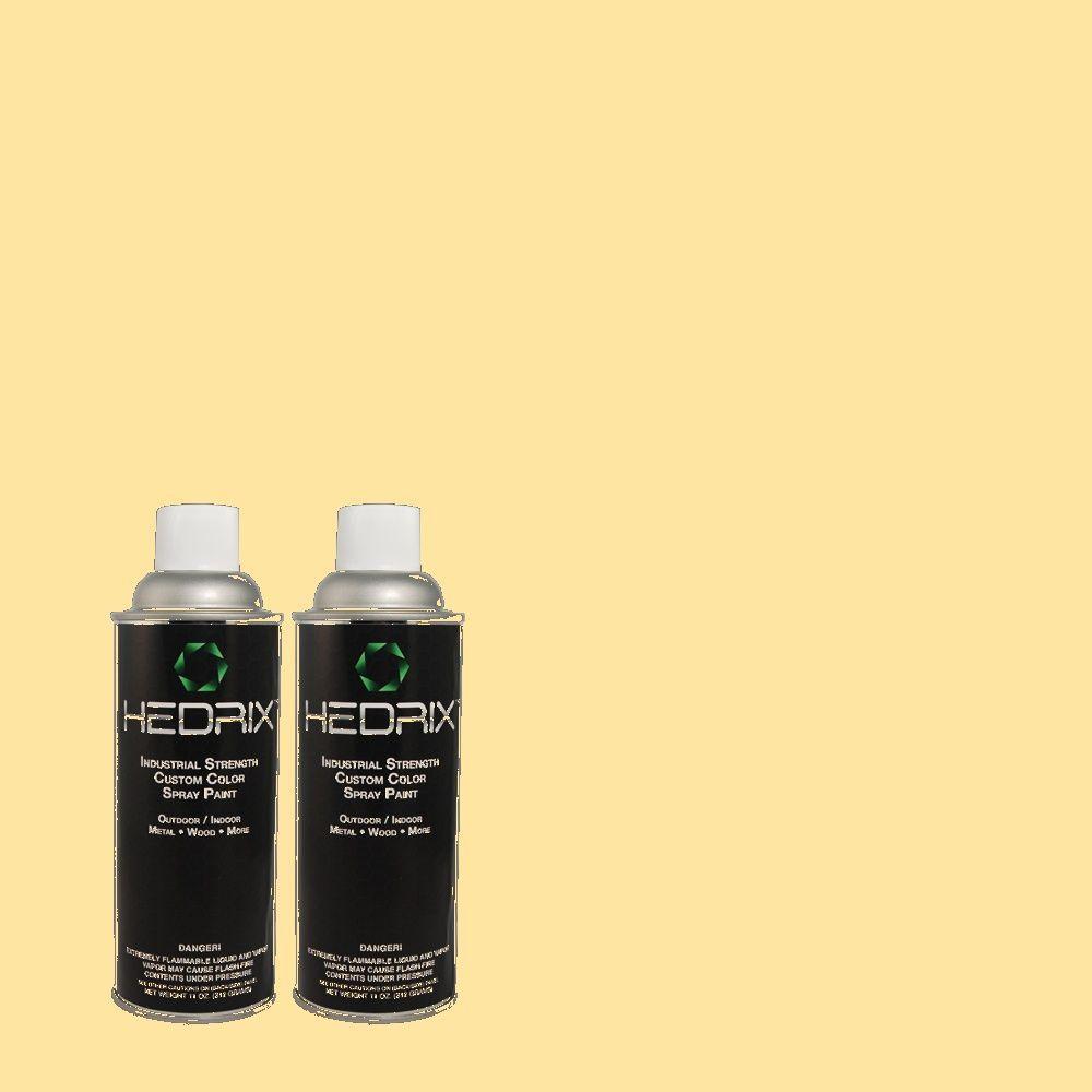 Hedrix 11 oz. Match of 310A-3 Manila Tint Gloss Custom Spray Paint (2-Pack)