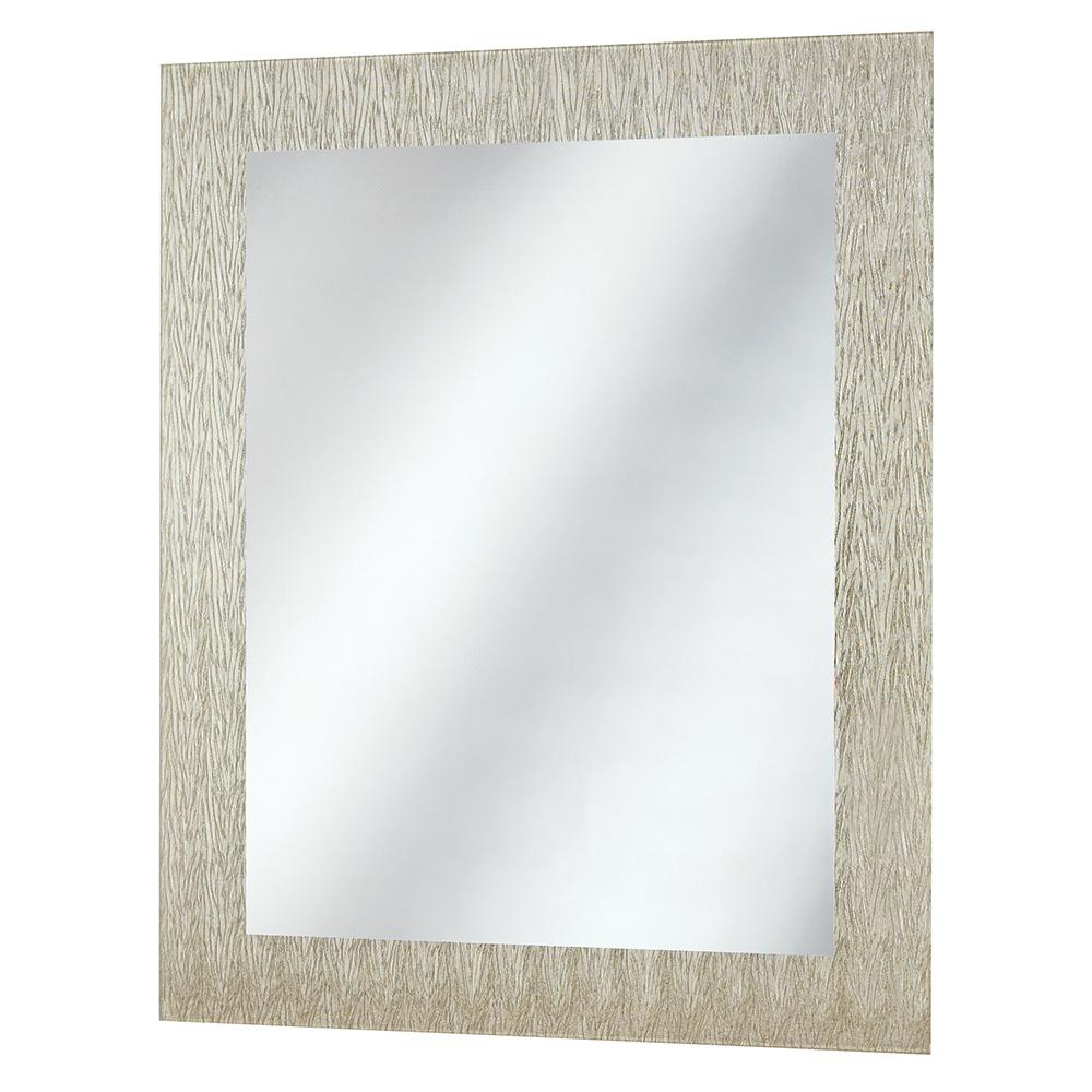 Home Decorators Collection 23 in. x 28.5 in. Frameless Wall Mirror in Silver