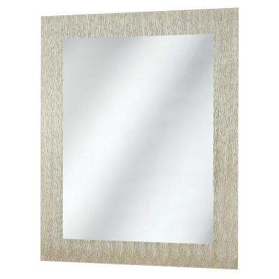 23 in. x 28.5 in. Frameless Wall Mirror in Silver