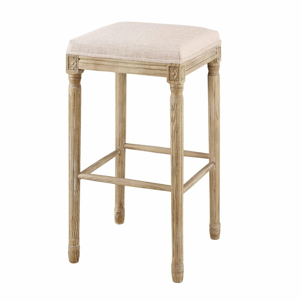 Linon Home Decor Smith Collection 30 In Natural Backless Bar Stool